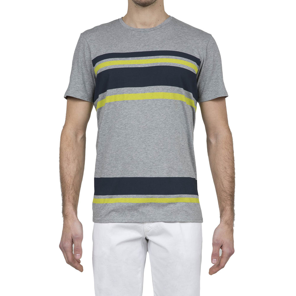 COTTON JERSEY T-SHIRT WITH BICOLOR PRINT