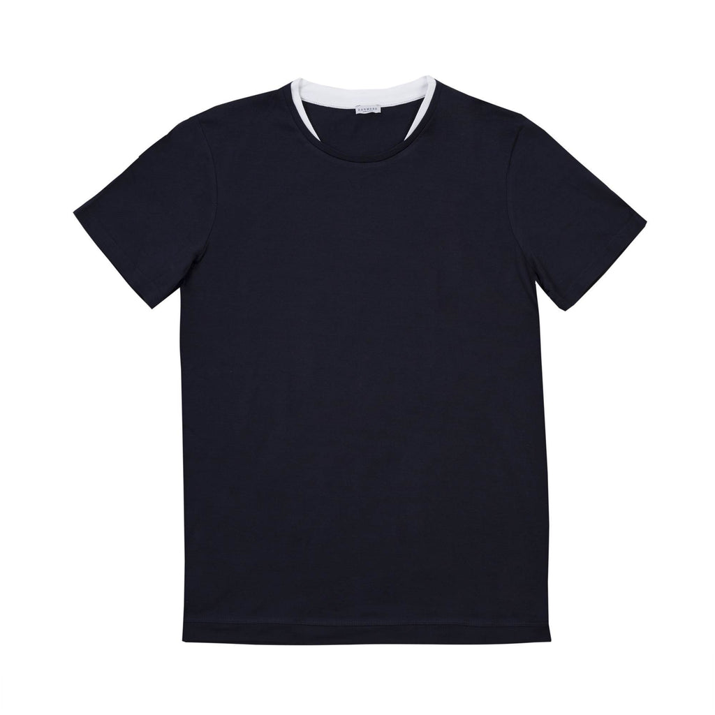 JERSEY T- SHIRT WITH DOUBLE COLLAR DETAIL