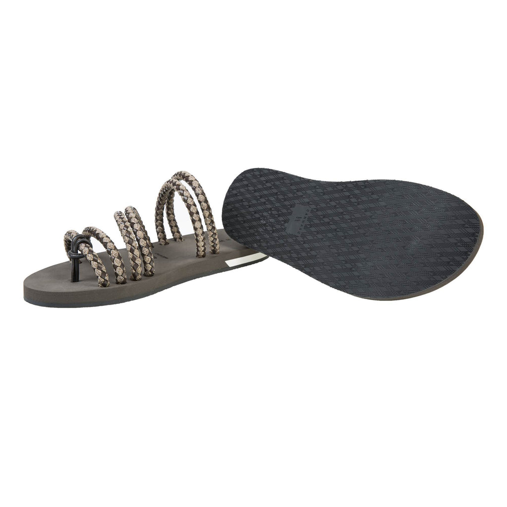 CORDED SANDAL WITH BICOLOR MICRO SOLE