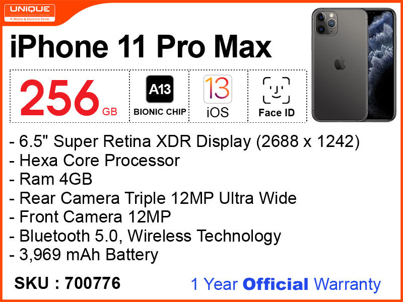 iPhone 11 Pro Max 256GB (Official)