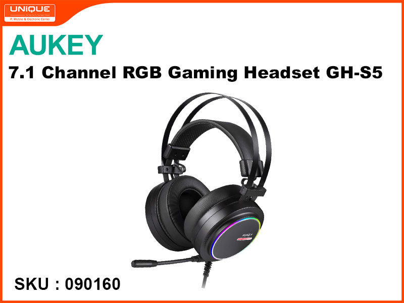 AUKEY GH-S5 Black 7.1 Channel RGB Gaming Headset