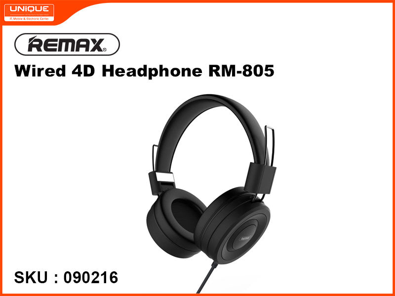 Remax RM-805 Black Wired 4D Headphone