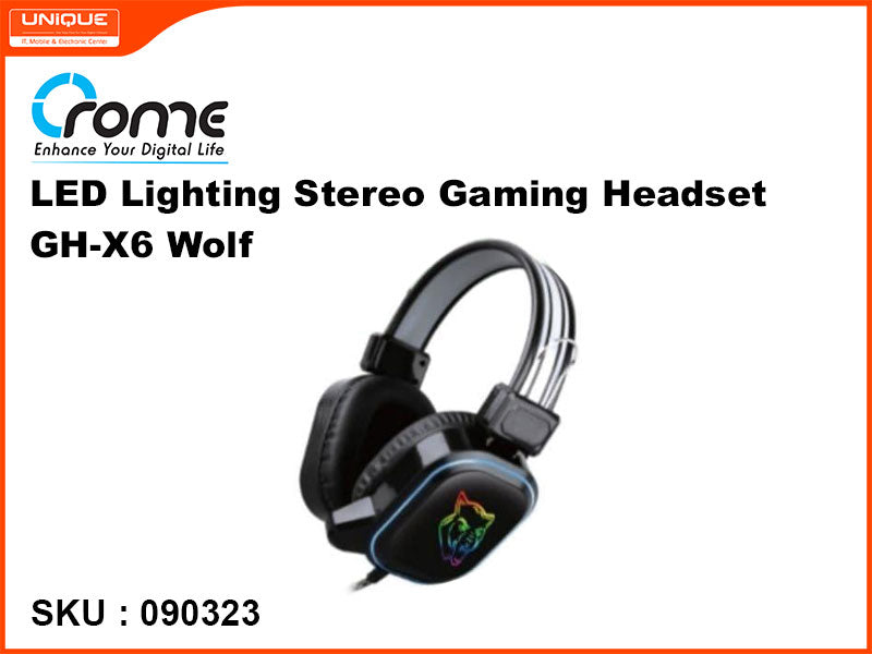 Crome GH-X6 Wolf LED Lighting Stero Gaming Headset