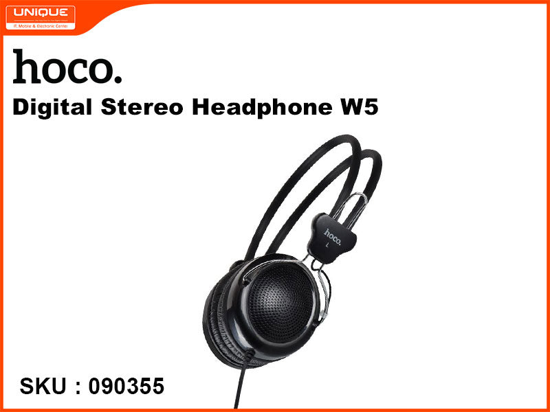 hoco W5 Black Digital Stereo Headphone