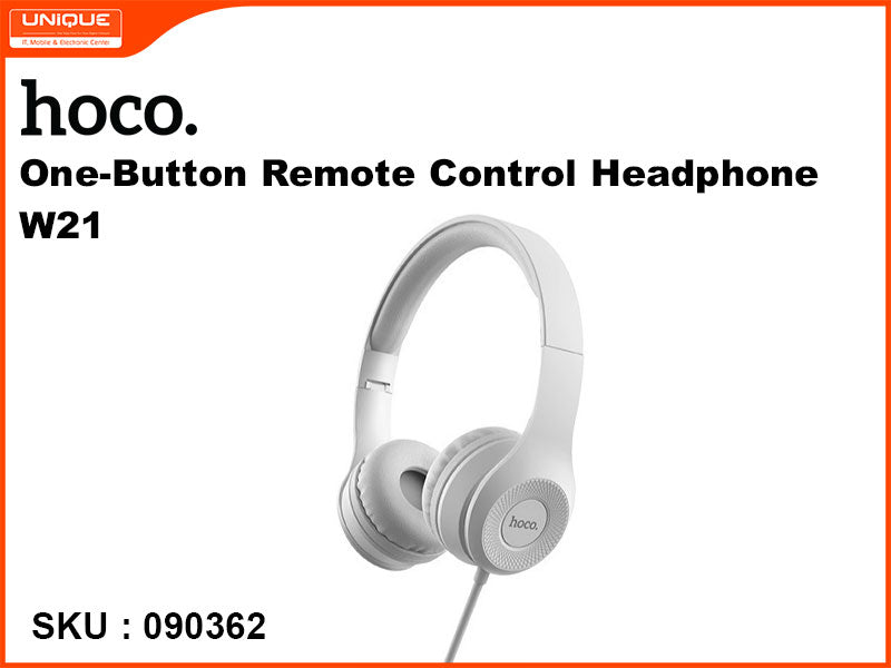 hoco W21 Grey One-button Remote Control Headphone