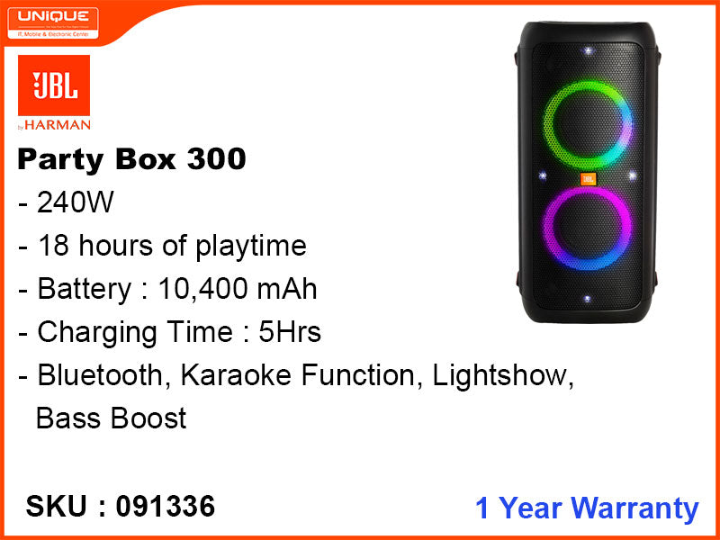 JBL Party Box 300, Bluetooth Speaker