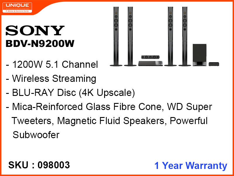 SONY BDV-N9200W 1200W 5.1,DVD Home Theater