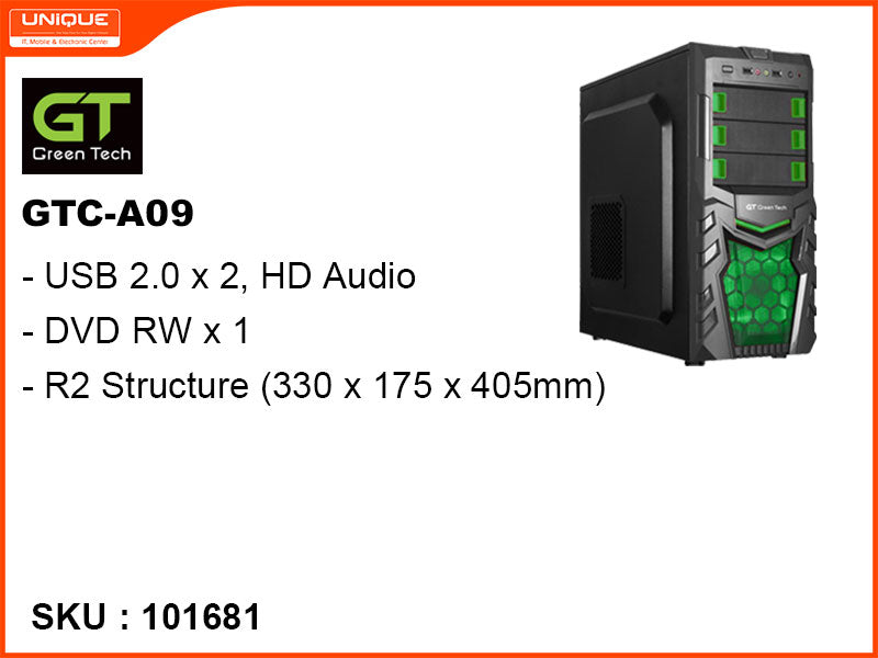 Green Tech Casing, GTC-A09 Green