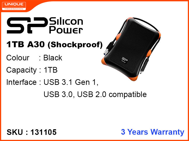 Silicon Power 1TB A30 USB 3.0