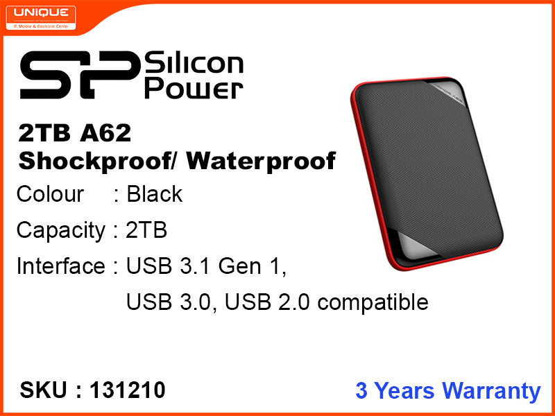 Silicon Power 2TB A62 USB 3.0