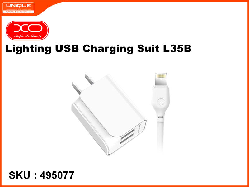 XO L35B Lighting USB Charging Suit