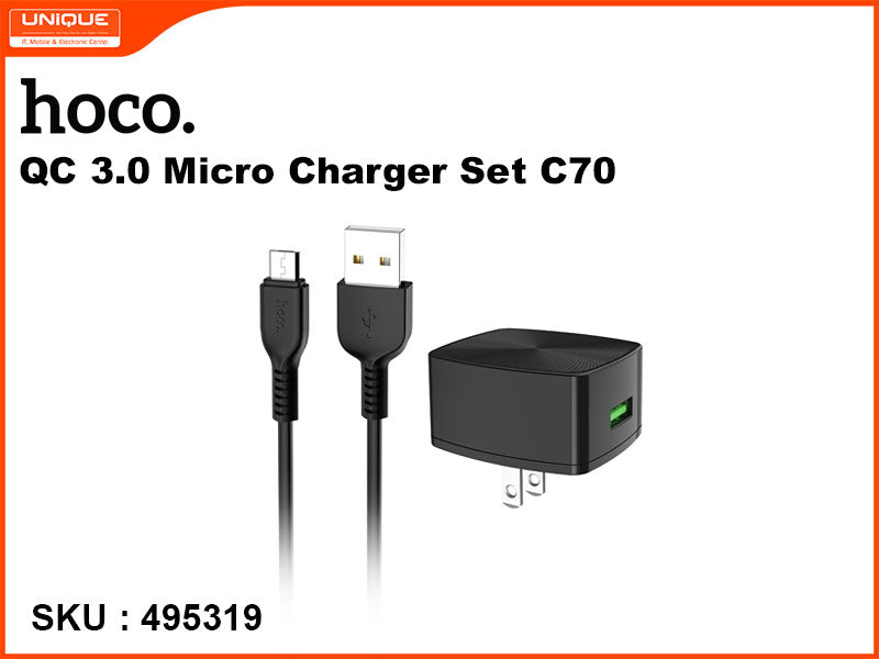 hoco C70 QC 3.0 Micro Charger Set