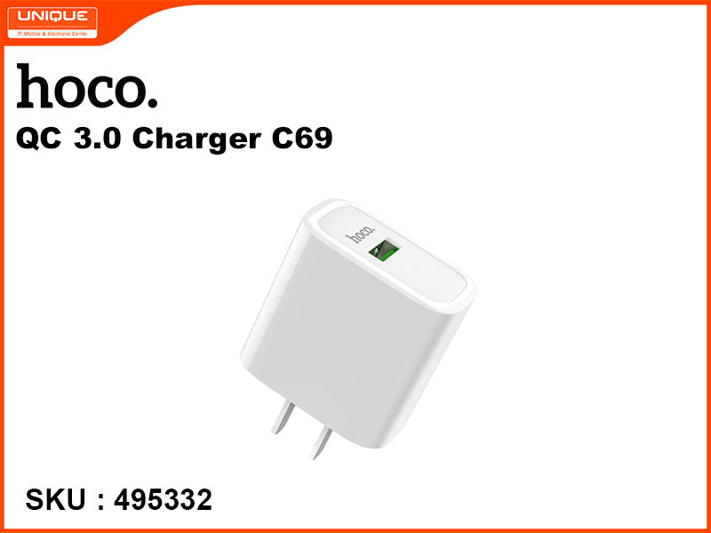 hoco C69 White QC 3.0 Charger