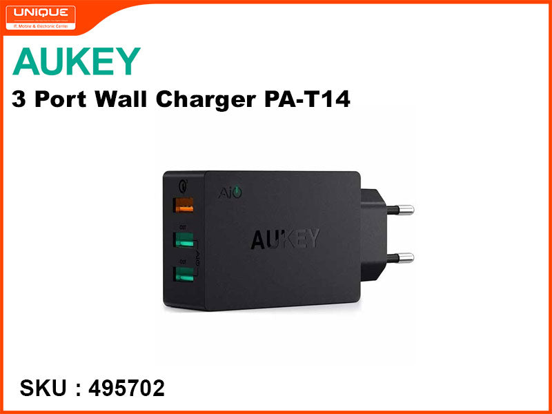 AUKEY PA-T14 Black 3Port Wall Charger