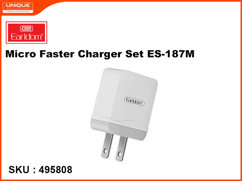 Earldom ES-187M White Micro Faster Charger Set