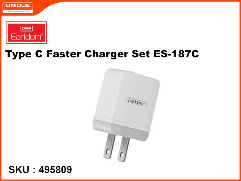Earldom ES-187C White Type C Faster Charger Set