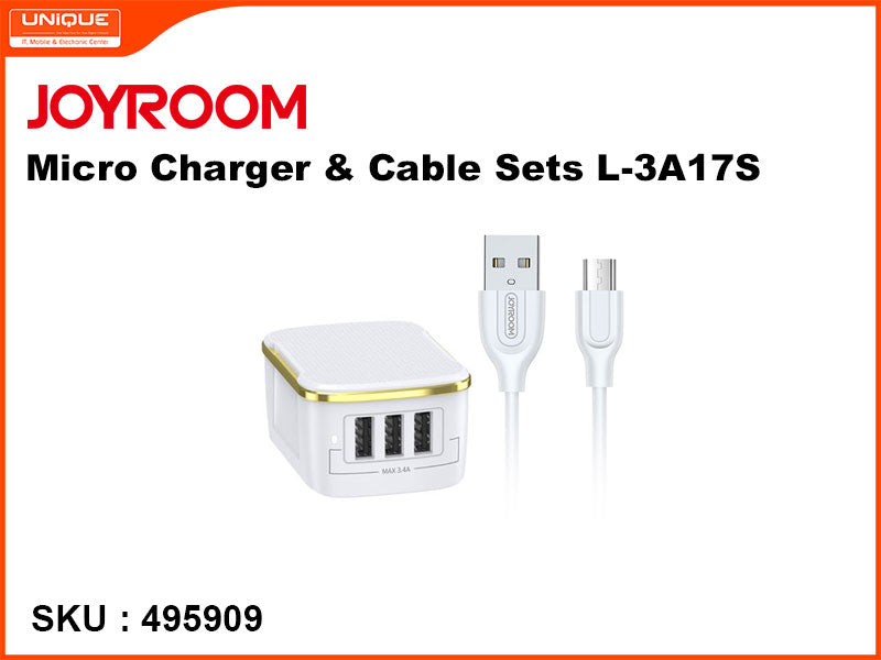 JOYROOM Micro Charger & Cable Sets, White, L-3A17S