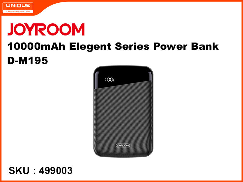 JOYROOM 10000mAh Elegent Series Power Bank, Black, D-M195