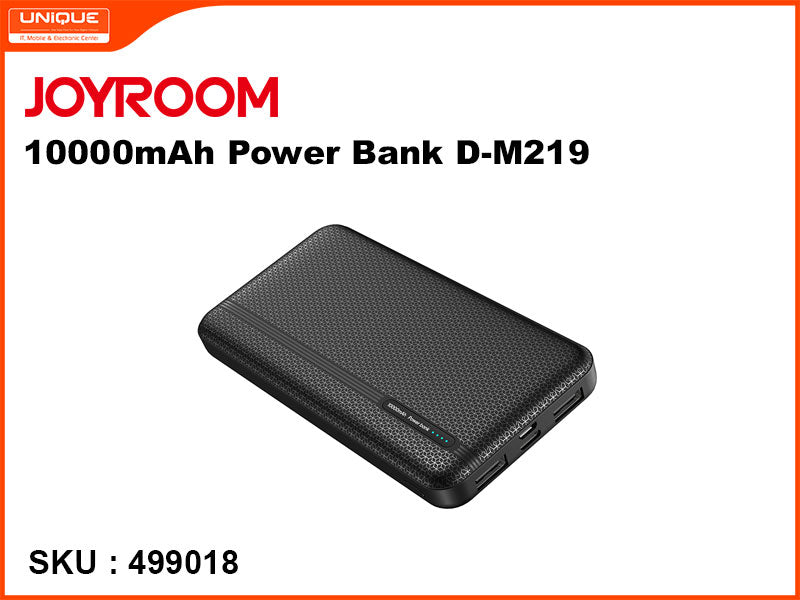 JOYROOM 10000mAh Power Bank, Black, D-M219