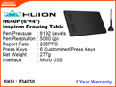 "HUION Inspiroy Drawing Tablet H640P (Black) 6""x4"""