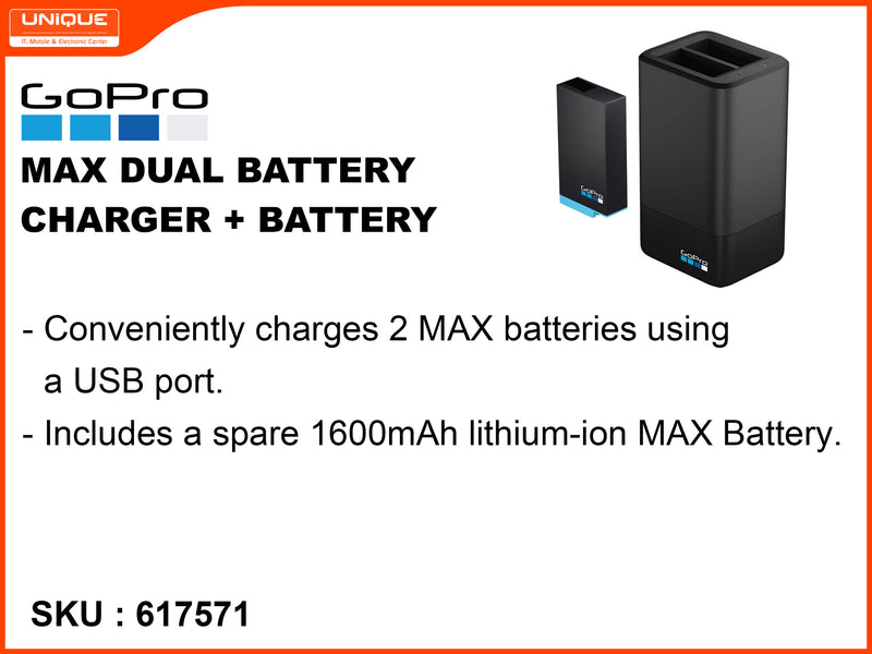 GoPro max dual battery Charged + Battery