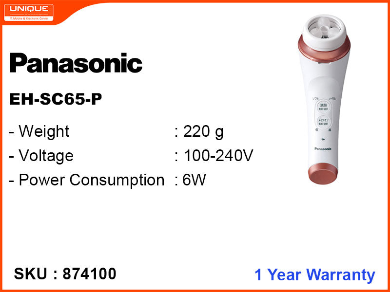 Panasonic EH-SC65-P Micro-Foaming Cleansing and Massage