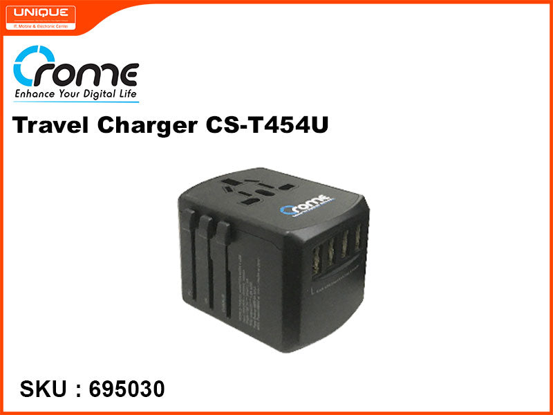 Crome CS-T454U Travel Charger