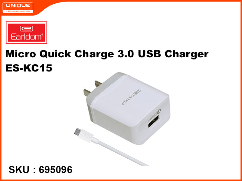 Earldom ES-KC15 Micro Quick Charge 3.0 USB Charger