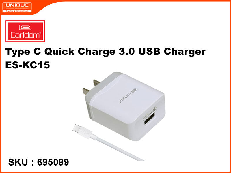 Earldom ES-KC15 Type C Quick Charge 3.0 USB Charger