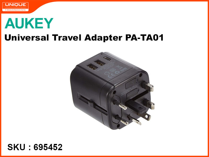 AUKEY PA-TA01 BLack Universal Travel Adapter
