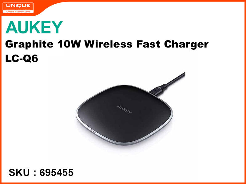 AUKEY LC-Q6 Black Graphite 10W Wireless Fast Charger