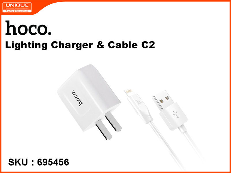 hoco C2 White Lighting Charger & Cable