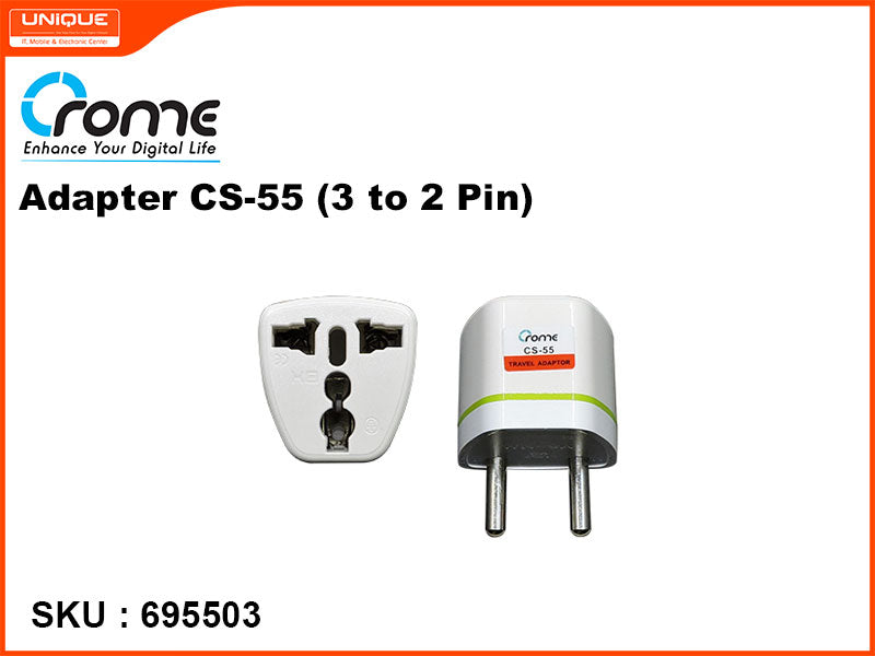 Crome Adapter CS-55 (3 to 2 pin)