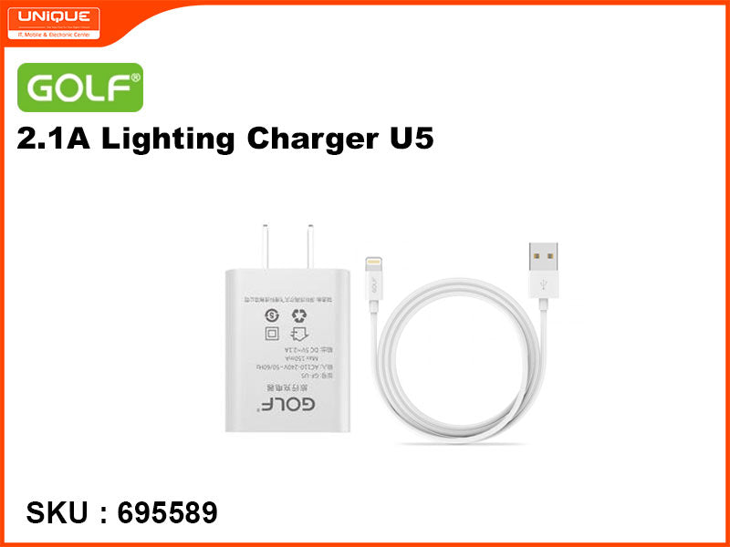GOLF U5 Lightning White Charger 2.1A