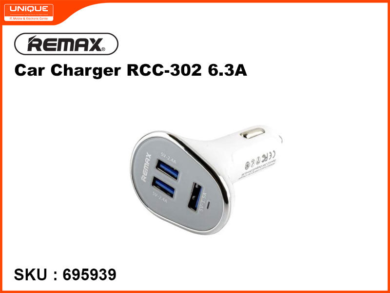 Remax RCC-302 White 6.3A Car Charger