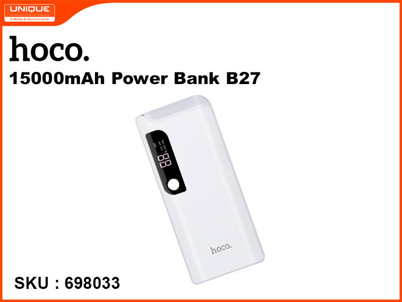 hoco B27 15000mAh White Power Bank