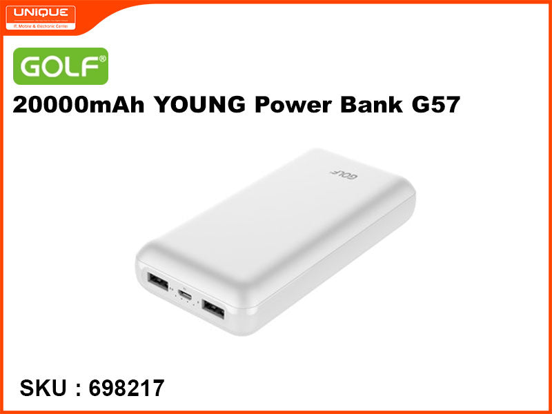 GOLF G57 White 20000mAh YOUNG Power Bank