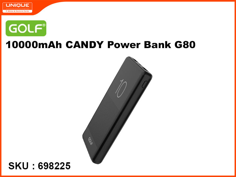GOLF G80 Black 10000mAh CANDY Power Bank