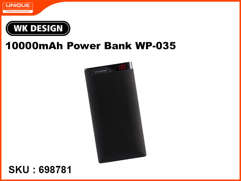 WK Design WP-035 10,000mAh Black Power Bank