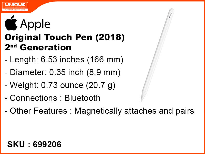 Apple Original Touch Pen (2018) 2nd Generation