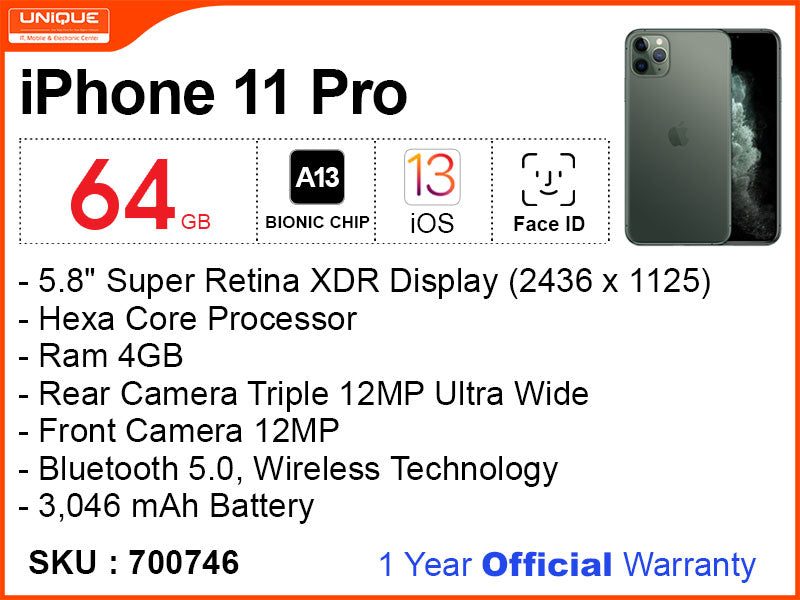 iPhone 11 Pro 64GB (Official)