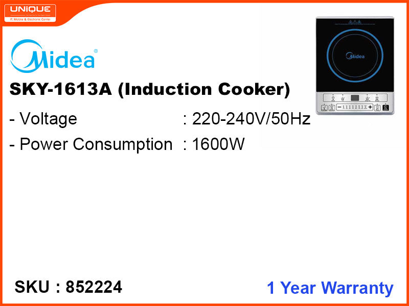 Midea Induction Cooker,  SKY-1613, 2,100W (Without Pot)