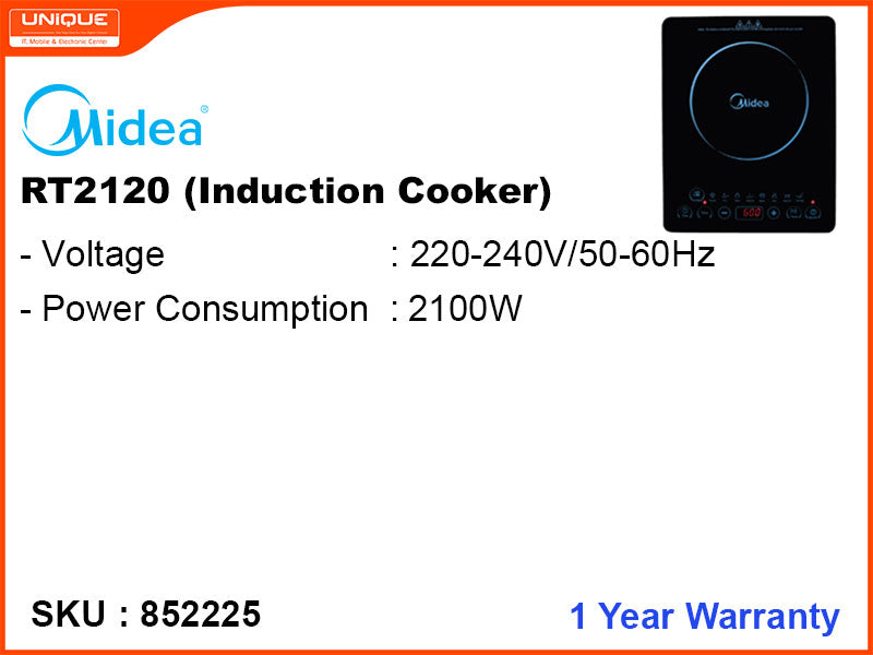 Midea Induction Cooker, RT2120, 2100W