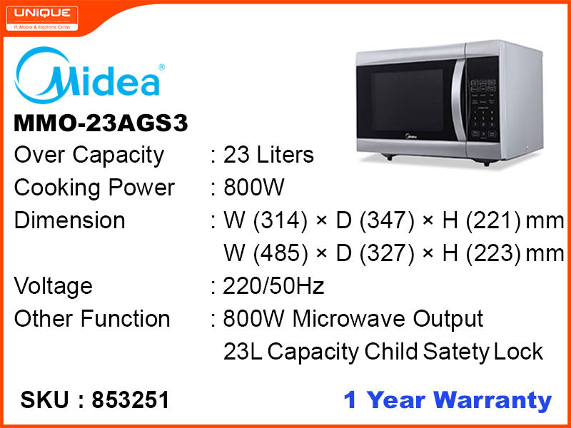 Midea MMO-23AGS3 Microwave