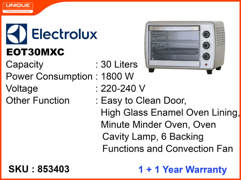 Electrolux EOT30MXC 30L, 1800W Oven