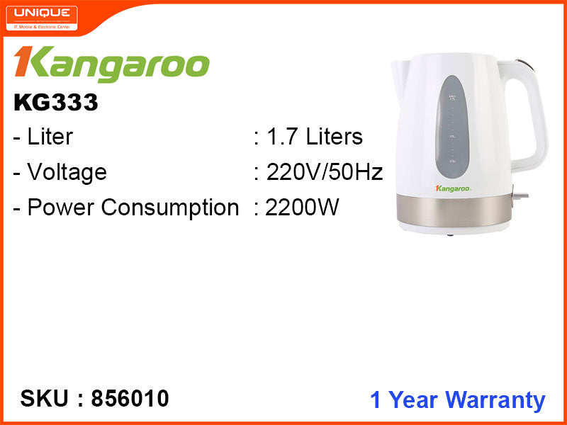 Kangaroo Electric Kettle 1.7L, 2200W, KG333