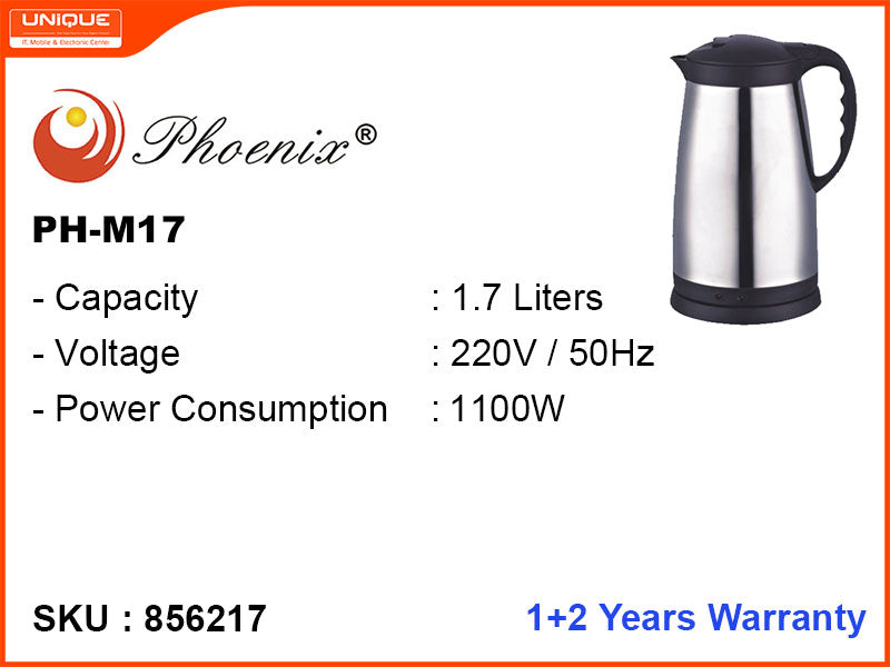 Phoenix Electric Kettle (PH-M17), 1.7L, 1100W