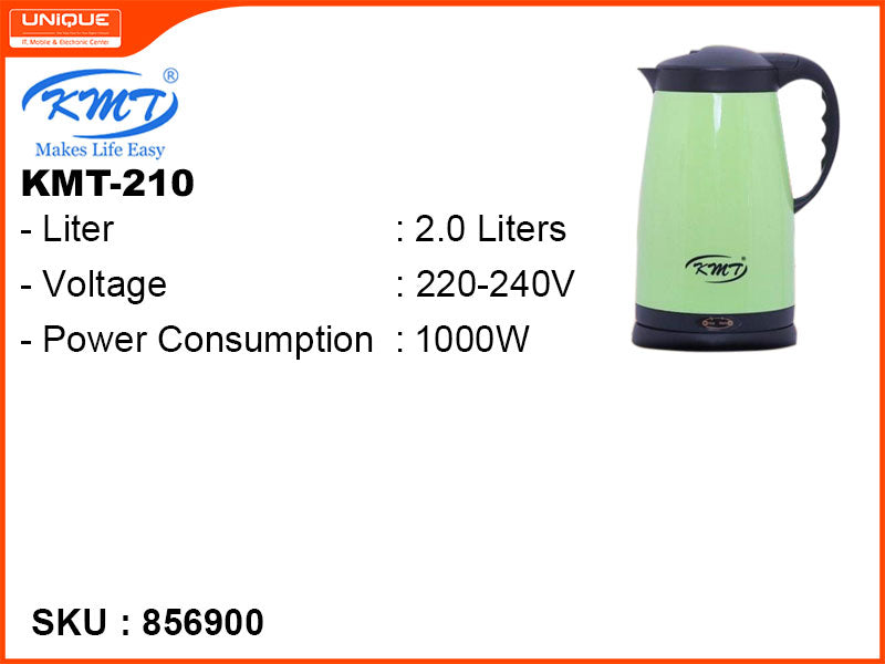 KMT Electric Kettle, 2.0L, 1000W, KMT-210