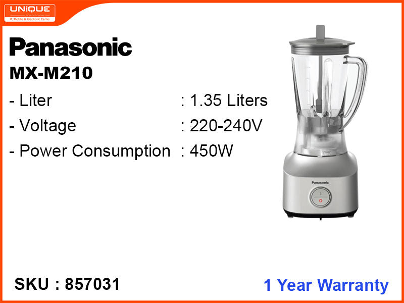 Panasonic MX-M210 1.35L,3 in 1 450W Blender