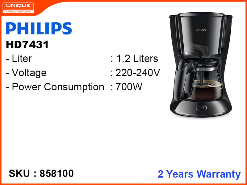 PHILIPS HD7431 1.2L,700W Coffee Maker